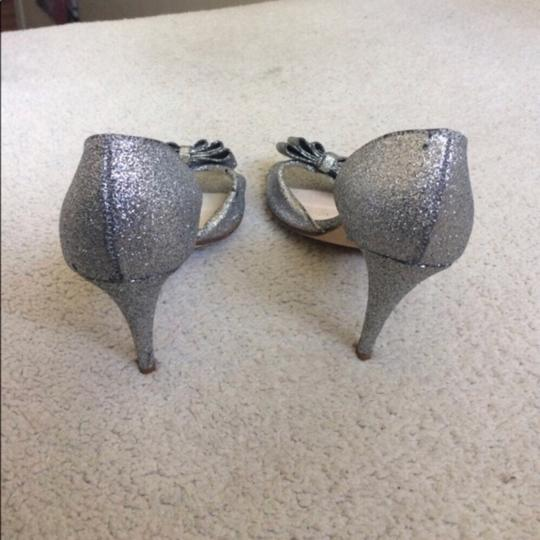 BHLDN Silver Cendrillon D'orsays By Something Blue Pumps Size US 9.5 Regular (M, B) Image 6