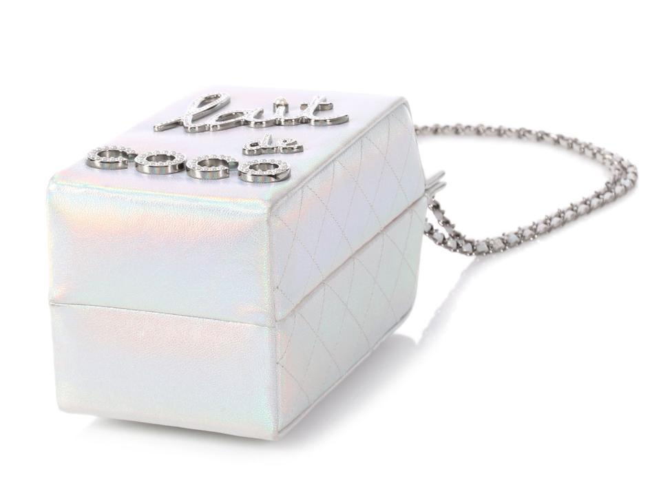 4b41f4be5924 Chanel **on Hold For Aff**lait De Coco Milk Carton Iridescent Silver ...