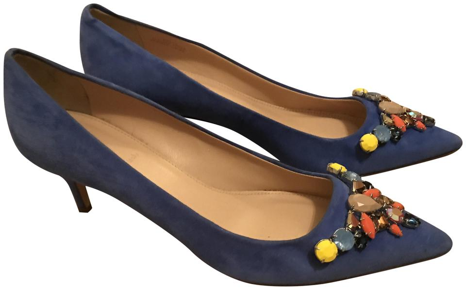 J.Crew Suede Tide Water Collection Dulci Suede J.Crew with Jewels Pumps 21f89d