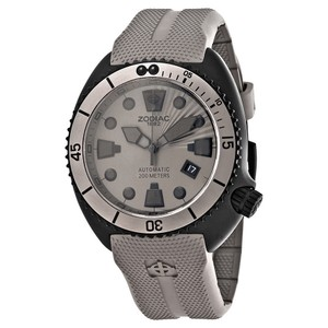 Zodiac Zodiac Oceanaire Automatic Black Dial Grey Rubber Sports Mens Watch ZO