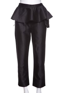 Isa Arfen Straight Pants Black