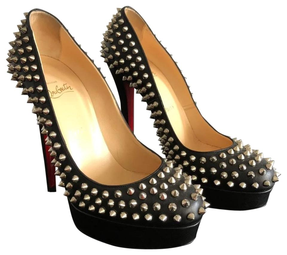 reputable site c71fa 9b2a8 Black Studded Heels Platforms