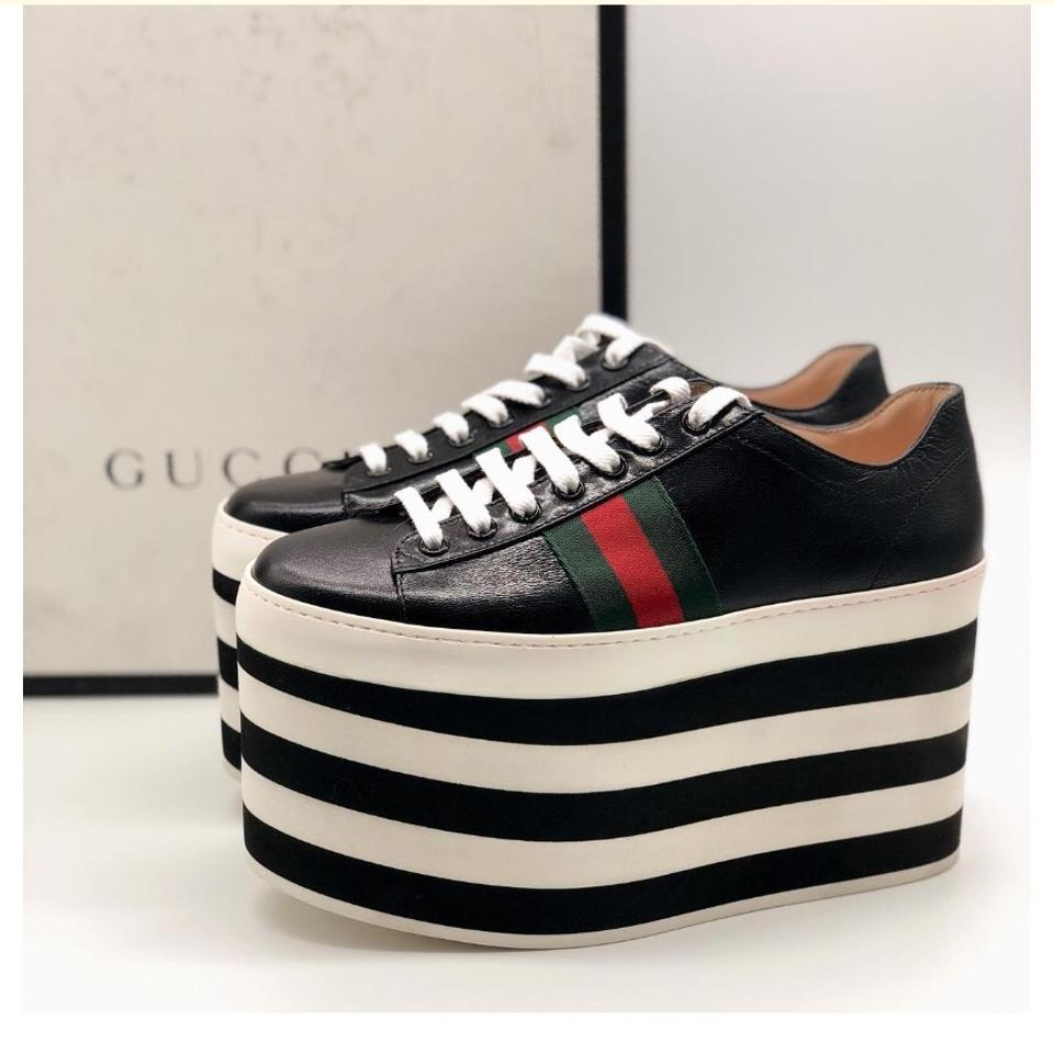 0f656910110 Gucci Web Leather Platform Sneakers Size EU 35 (Approx. US 5 ...