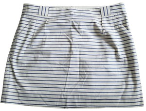 The Limited Mini Skirt Cream with blue stripes