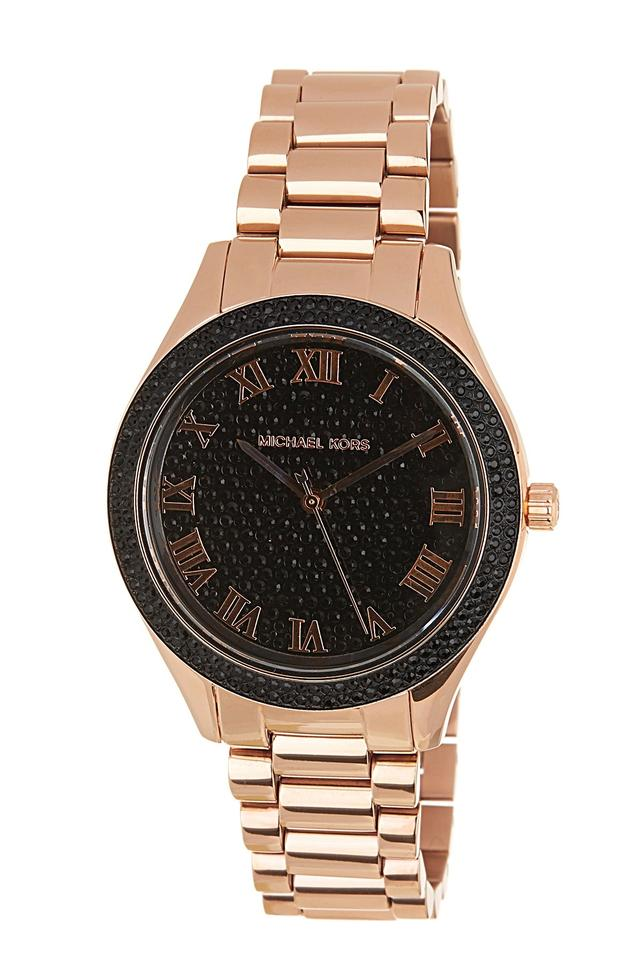 2af398b77f11 Michael Kors New Michael Kors Women s Norie Rose Gold-Tone Stainless Steel  Watch MK Image ...