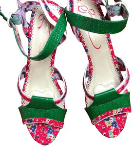 Poetic License Green, red & white... Sandals