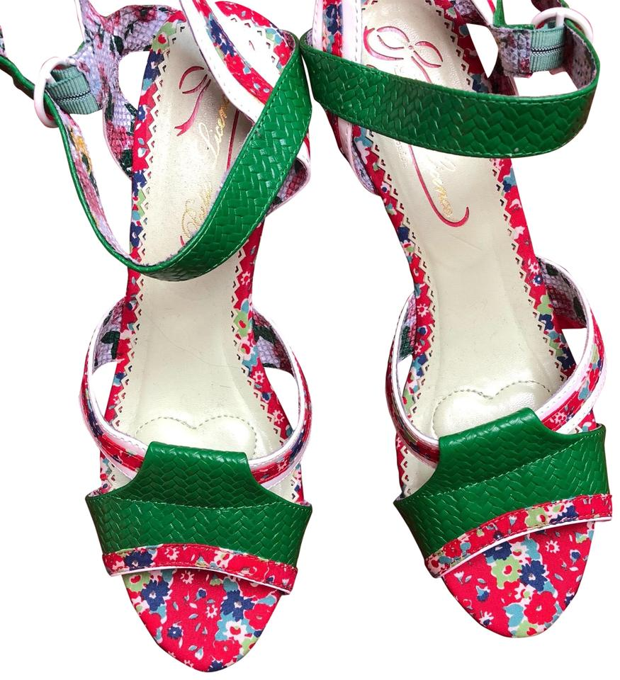 8000f61801bd Poetic License Green Red   White... My Cup Of Tea Sandals. Size  US 10 ...
