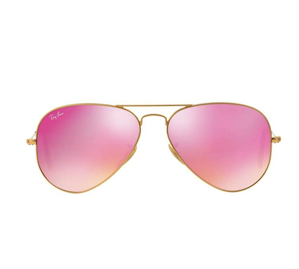 Ray Ban Gold Pink Mirror Lens Aviator Rb 3025 112 4t Free 3 Day