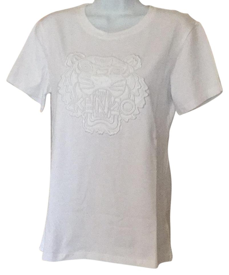 7428b8ab08 Kenzo White Dressy Women M Embroidered Tiger. New Tee Shirt. Size: 8 ...
