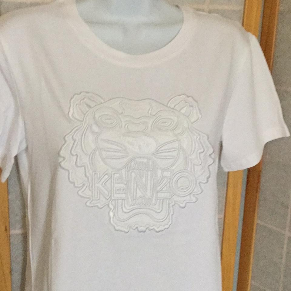 c0fd9ec0b7 Kenzo White Dressy Women M Embroidered Tiger. New Tee Shirt Size 8 (M) -  Tradesy