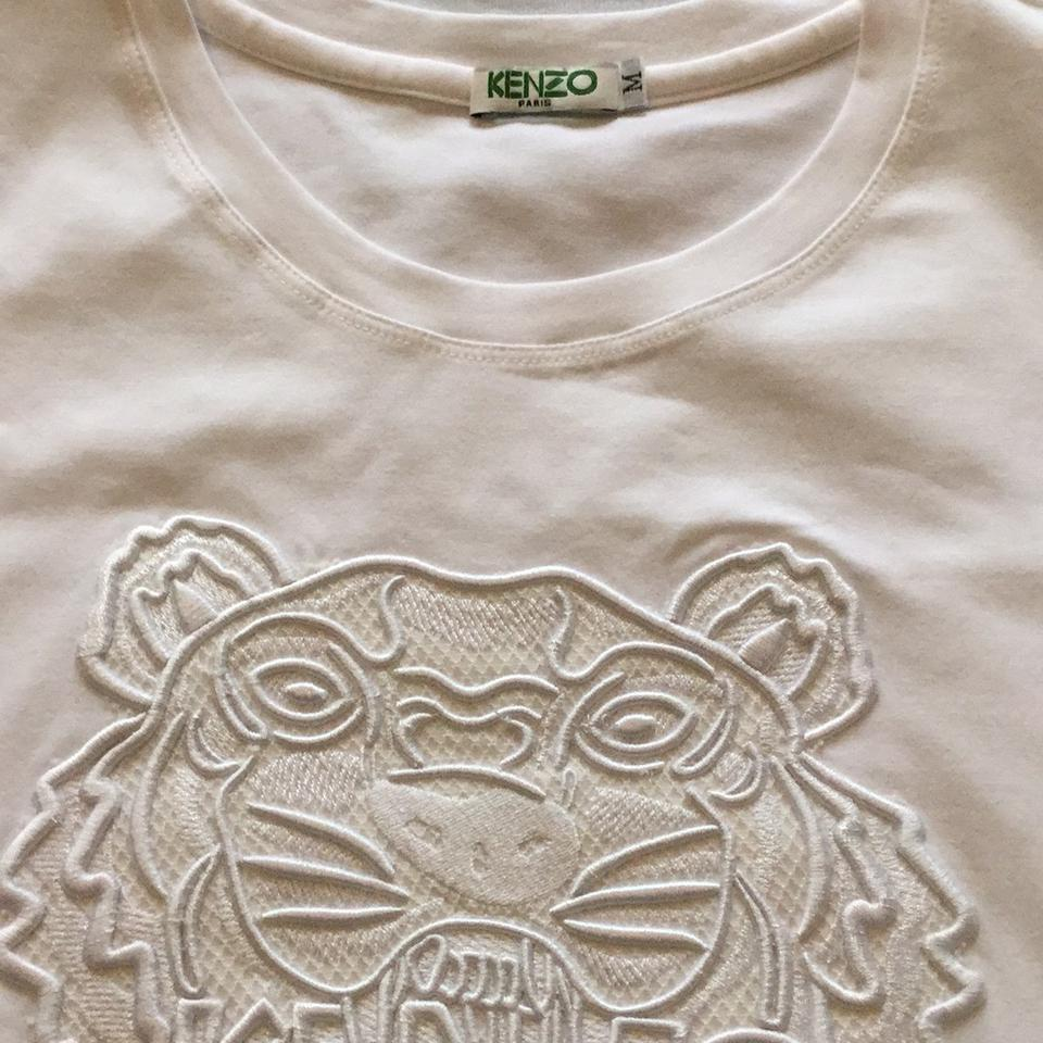 4f967a337d Kenzo White Dressy Women M Embroidered Tiger. New Tee Shirt Size 8 ...