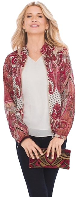 Item - Red Paisley Bomber Printed Style: 570218031 Jacket Size 12 (L)