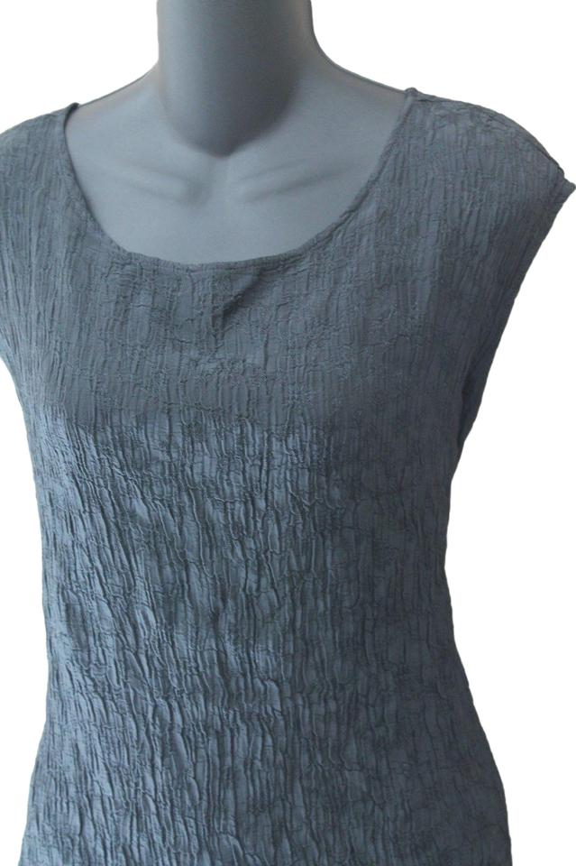 151e3dd211fde1 CP Shades Green Silver Shell Large Womens Crinkle Tank Top Cami. Size  12  ...