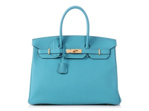 Hermès Turquoise Leather Gold Hardware Hr.p0717.02 Reduced Price Satchel in Blue