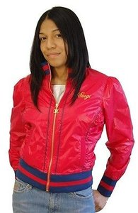 Coogi Women Light Track Coat Lined Red Jacket