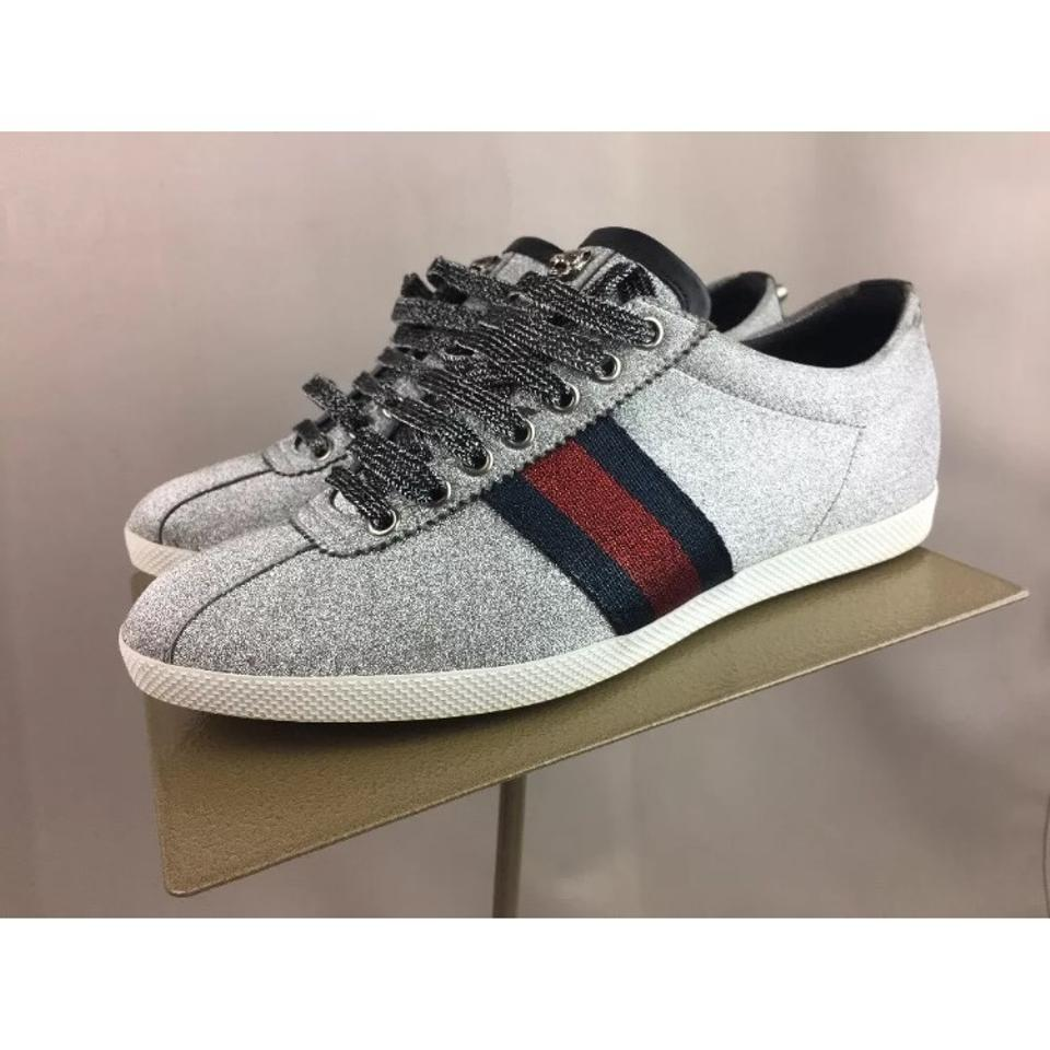 334bad7703cce Gucci Bambi Lace-up Sneaker Men s Silver Glitter 6g 7us Sneakers ...