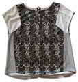 Bar lll Gray and Black Lace Front Tunic Size 12 (L) Bar lll Gray and Black Lace Front Tunic Size 12 (L) Image 1