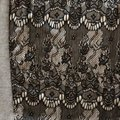 Bar lll Gray and Black Lace Front Tunic Size 12 (L) Bar lll Gray and Black Lace Front Tunic Size 12 (L) Image 2