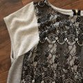 Bar lll Gray and Black Lace Front Tunic Size 12 (L) Bar lll Gray and Black Lace Front Tunic Size 12 (L) Image 3