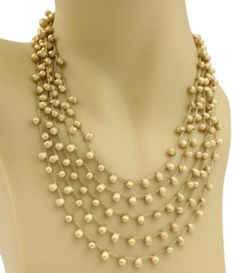 Marco Bicego Marco Bicego Acapulco 18k Yellow Gold 5 Strands Beaded Drape Necklace
