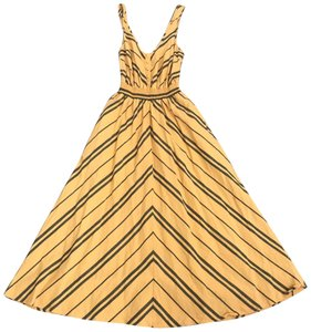 yellow and gray Maxi Dress by Cooperative Urban Outfitters Midi Striped