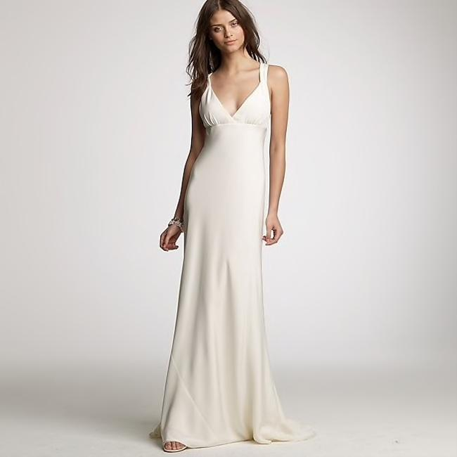 Item - Ivory Silk Gown Modern Wedding Dress Size 4 (S)