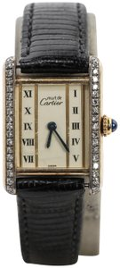 Cartier Cartier Vintage Tank Vermeil Gold Plated Diamond Watch