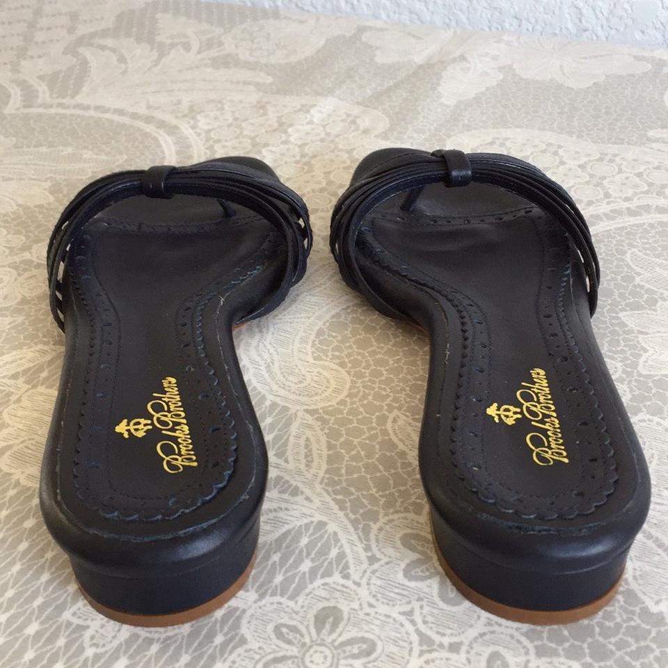 75784da2730 Brooks Brothers Navy Thong Sandals Size US 8 Regular (M