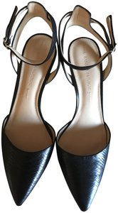 Banana Republic Ankle Strap Pointed Toe Leather Black Pumps