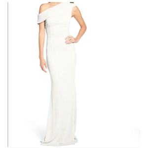 Katie May Ivory Layla Crepe Gown Feminine Bridesmaid/Mob Dress Size 14 (L)