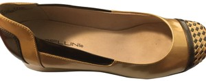 Bellini Flat Gold and Pewter Wedges