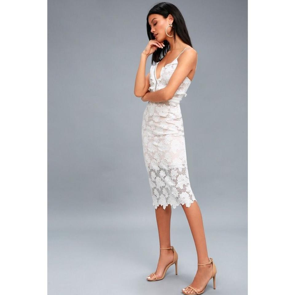 75ec9221 Bardot Vienna Lace Midi Mid-length Cocktail Dress Size 6 (S) - Tradesy