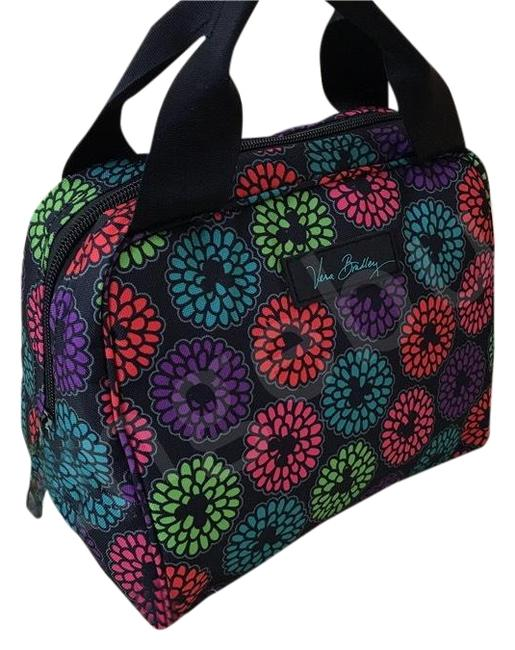 Item - Disney Parks Lunch Cooler Mickey's Magical Blooms Black Purple Green Baguette