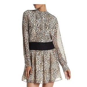Marchesa short dress Brown/ Spring Leopard Print In Caviar on Tradesy