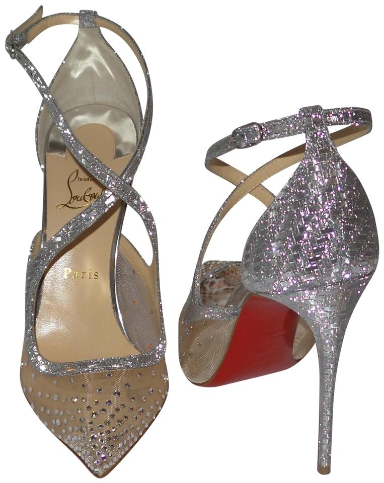 new arrivals 78184 230a7 Christian Louboutin Silver Twistissima Strass 100 Crystal Pumps Size EU  40.5 (Approx. US 10.5) Regular (M, B) 26% off retail