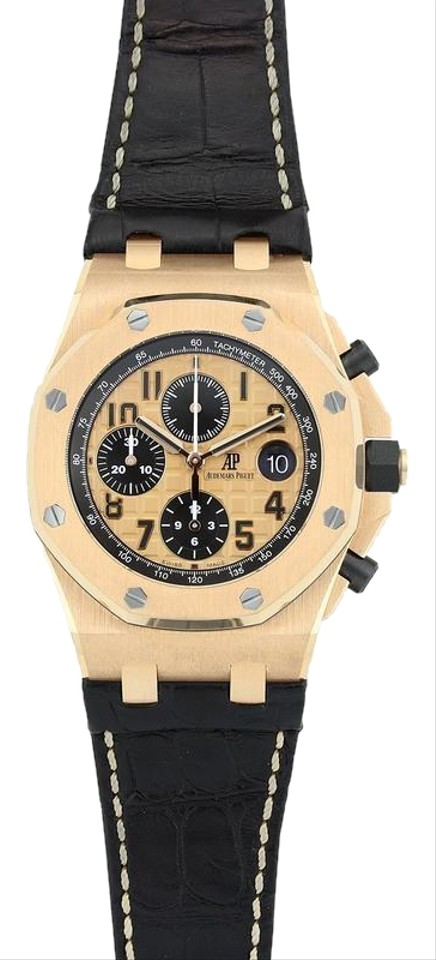 Audemars piguet rose gold royal oak offshore chrono 42mm watch tradesy for Royal oak offshore rose gold 42mm