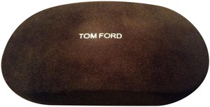 Tom Ford New Tom Ford Faux Suede Hardshell Sunglasses/Eyeglasses Case w/Cloth