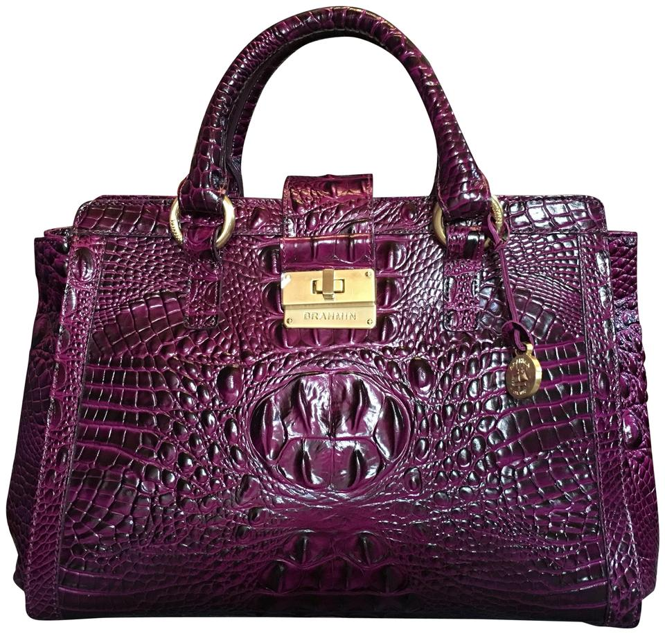 Iris Brahmin Satchel Annabelle Rare So Leather Purple Dark t4wTpax4q