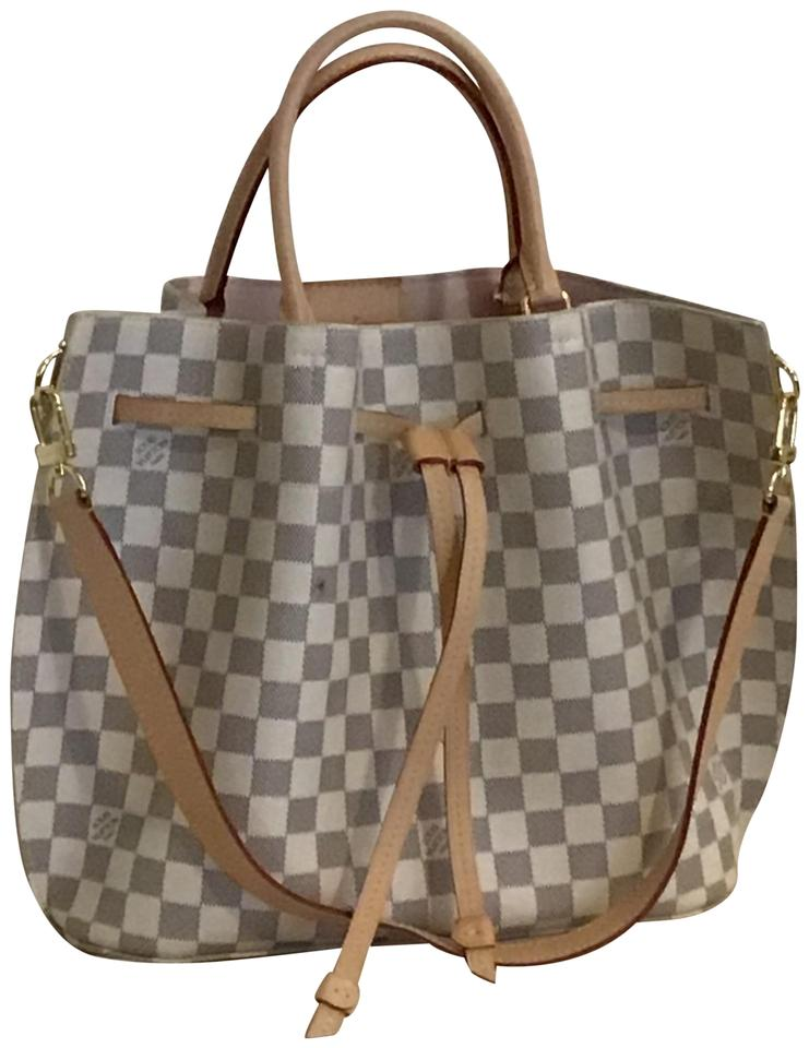33147fcc0bb2 Louis Vuitton Lv Girolata Damier Azur Canvas Satchel in white Image 0 ...