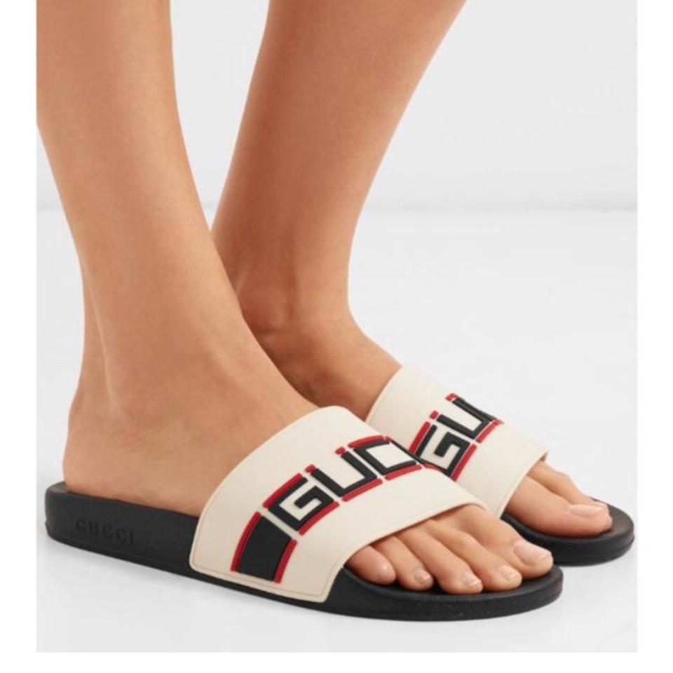 1bb6a899ce1 Gucci Logo Embossed Rubber Slides Sandals Size EU 40 (Approx. US 10 ...