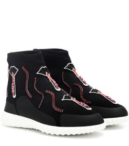 Valentino Camo Rockrunner Rockstud Multicolor Trainer Black Athletic