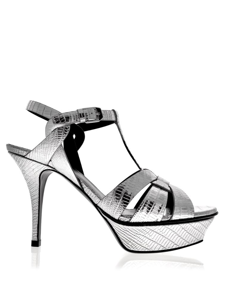 Laurent Sandals Tribute Saint Silver 75 FwdqznUTPq