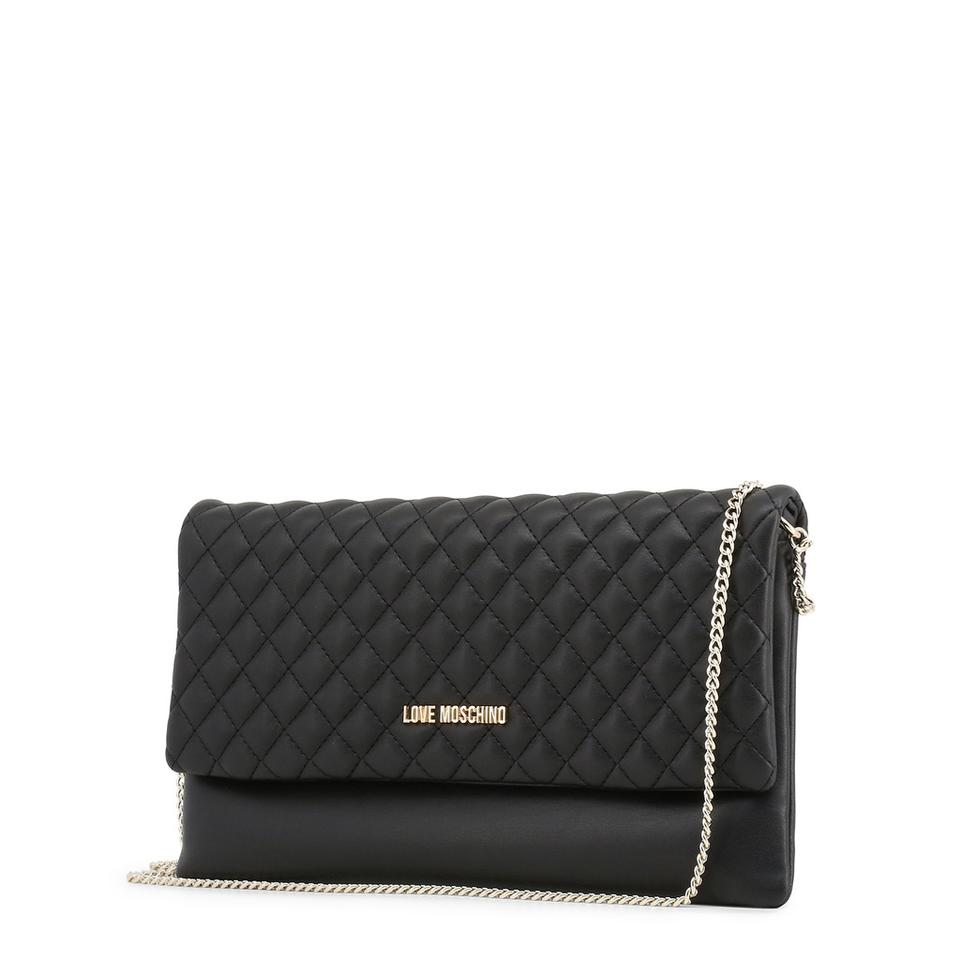 Love Synthetic Clutch Black Moschino Leather nq60fU