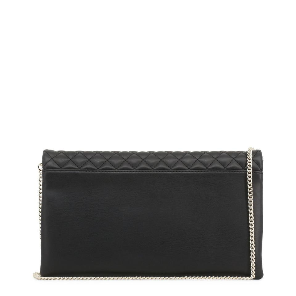 Love Moschino Synthetic Clutch Leather Black rcrp1WZS