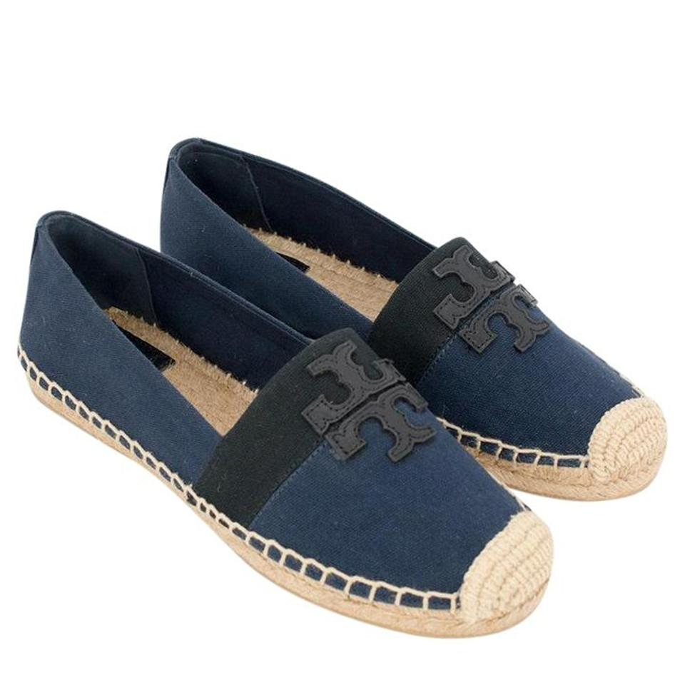 4f168e670c1 Tory Burch Navy Black Weston Canvas Espadrilles Flats Size US 7 ...