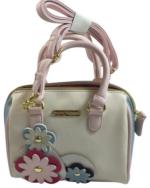 Betsey Johnson Off White Faux Leather Shoulder Bag Betsey Johnson Off White Faux Leather Shoulder Bag Image 1