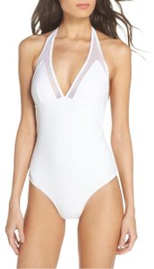 Ted Baker Ted Baker Mesh Panel One Piece Swimsuit White