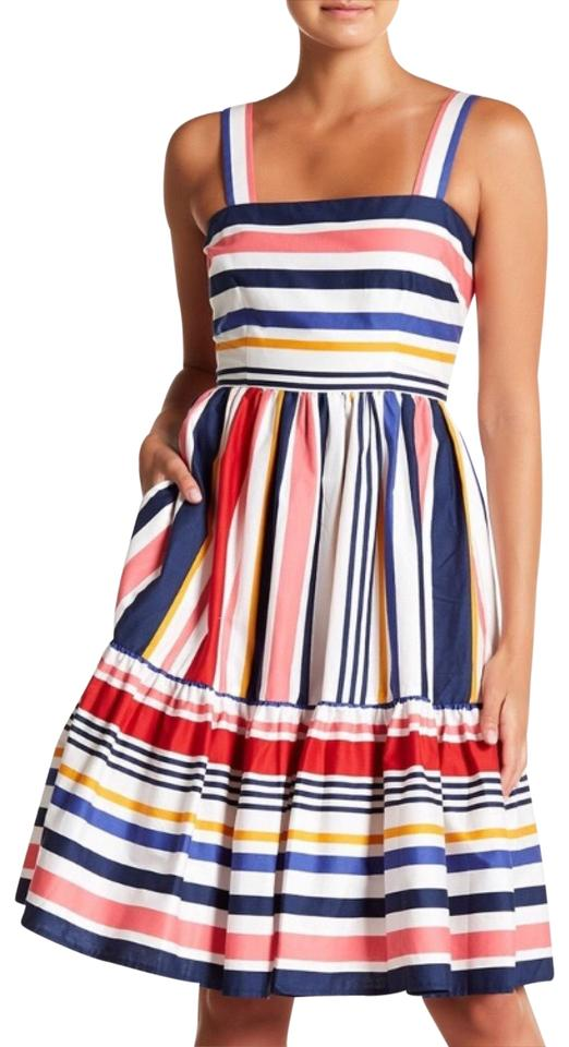 bd753cbf2386 Vince Camuto Pink White Black Blue Yellow Navy Red Mid-length Short ...
