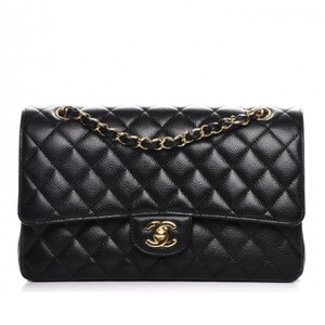 Chanel Vintage Classic Flap Caviar Leather Shoulder Bag