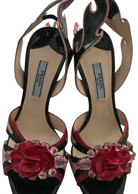 Item - Black Red Pink Formal Shoes Size EU 36.5 (Approx. US 6.5) Regular (M, B)